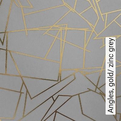 Angles,-gold/-zinc-grey-Ornamente-Grafische-Muster-Schwarz