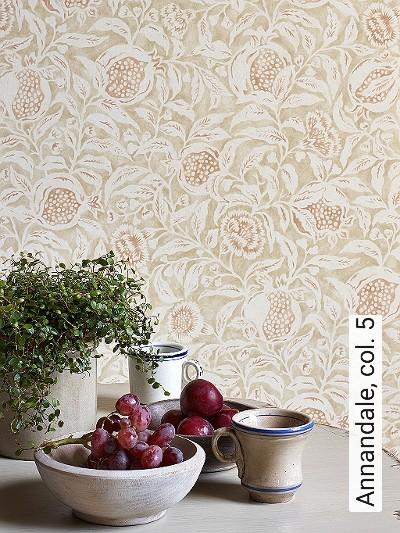 Annandale,-col.-5-Blätter-Früchte-Florale-Muster-Creme-Hellbraun