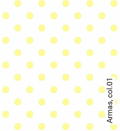 Armas,-col.01-Punkte-KinderTapeten-Gelb-Weiß