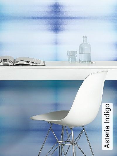 Asteria-Indigo-Blumen-Quadrate/Rechtecke-Leder-Moderne-Muster-Blau-Perlmutt-Hellblau