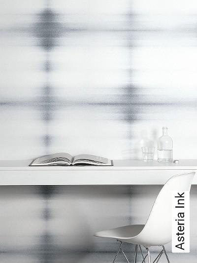 Asteria-Ink-Blumen-Quadrate/Rechtecke-Leder-Farbverlauf-Moderne-Muster-Grau-Anthrazit-Weiß-Perlmutt