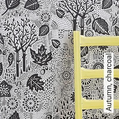 Autumn,-charcoal-Bäume-Moderne-Muster