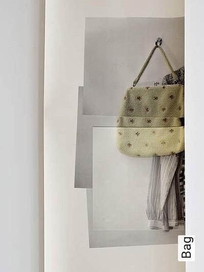 Bag-Kleidung-Moderne-Muster-Creme-Multicolor