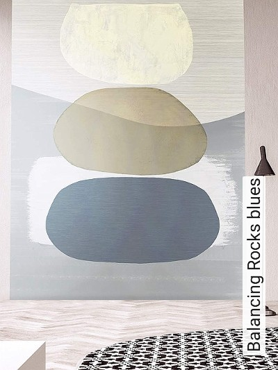Balancing-Rocks-blues-Kreise-FotoTapeten-Grafische-Muster-Blau-Grau-Weiß-Creme