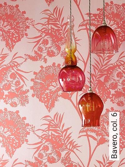Bavero,-col.-6-Blumen-Blätter-Florale-Muster-Bronze-Rot