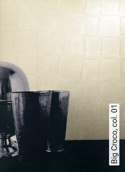 Big-Croco,-col.-01-Tierhaut-Leder-Moderne-Muster-Creme