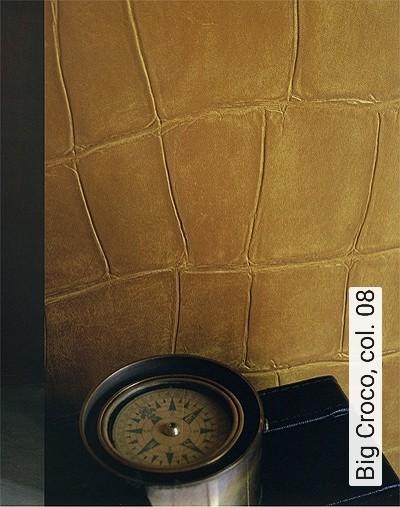 Big-Croco,-col.-08-Tierhaut-Leder-Moderne-Muster-Gold