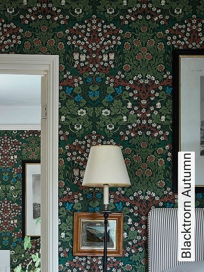 Blacktrorn-Autumn-Blumen-Blätter-Klassische-Muster-Florale-Muster-Rot-Grün-Braun-Weiß