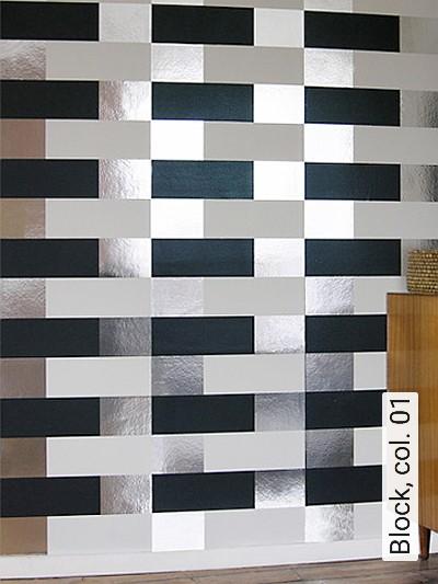 Block,-col.-01-Streifen-Grafische-Muster-Bauhaus-Silber-Schwarz-Weiß