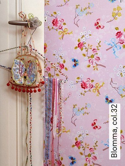 Blomma,-col.32-Blumen-Florale-Muster-Moderne-Muster-Rosa-Weiß-Pink-Ocker-Hellblau