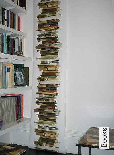 Books-Bücher-Moderne-Muster-Weiß-Multicolor