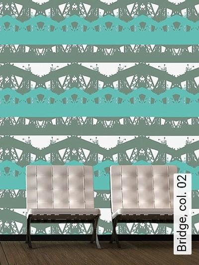 Bridge,-col.-02-Brücke-Moderne-Muster-Olive-Hellgrün-Weiß