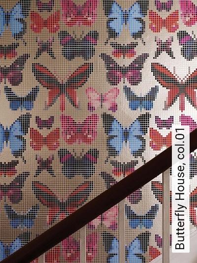 Butterfly-House,-col.01-Pixelmotiv-Schmetterlinge-Moderne-Muster