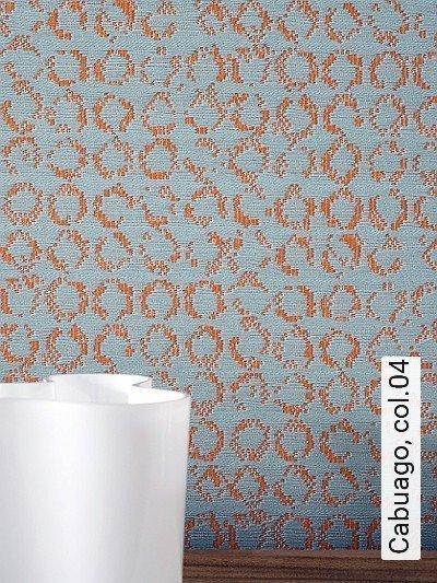 Cabuago,-col.04-Gewebe-Moderne-Muster-Orange-Hellblau
