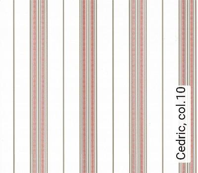 Cedric,-col.10-Streifen-Rot-Weiß-Hellbraun