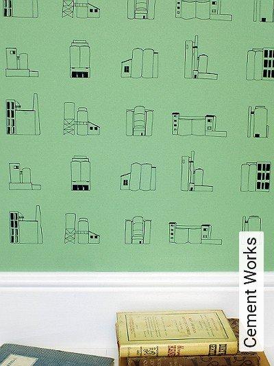 Cement-Works--Gebäude-Moderne-Muster-Schwarz-Hellgrün