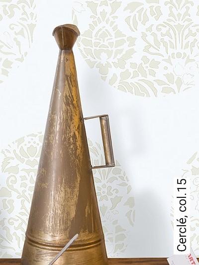 Cerclé,-col.15-Kreise-Blätter-Zeichnungen-Moderne-Muster-Gold-Weiß-Perlmutt-Hellbraun