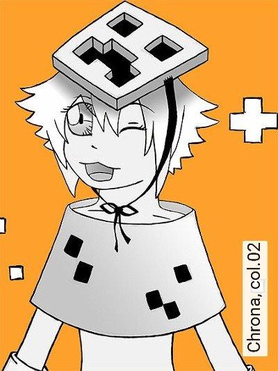 Chrona,-col.02-Figuren-Zeichnungen-Moderne-Muster-FotoTapeten-Orange-Anthrazit-Weiß