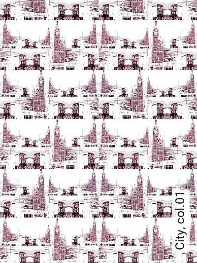 City,-col.01-Gebäude-Moderne-Muster-Rot-Weiß