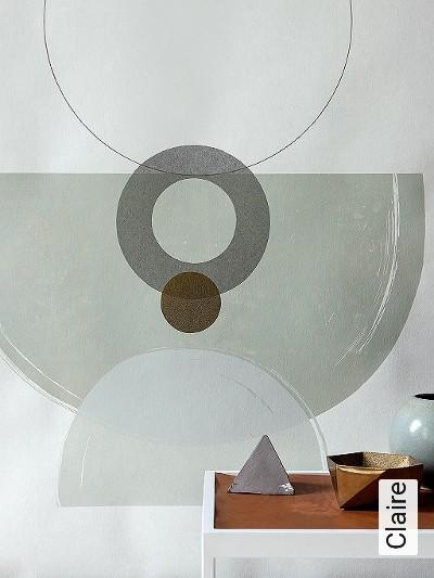 Claire-Kreise-Punkte-Formen-Grafische-Muster-Gold-Grau-Rosa-Weiß