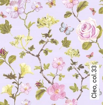 Cleo,-col.33-Tiere-Äste-kl.-Blümchen-Florale-Muster-Grün-Rosa-Weiß-Flieder