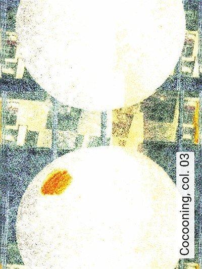 Cocooning,-col.-03-Kreise-Moderne-Muster-Blau-Weiß-Ocker