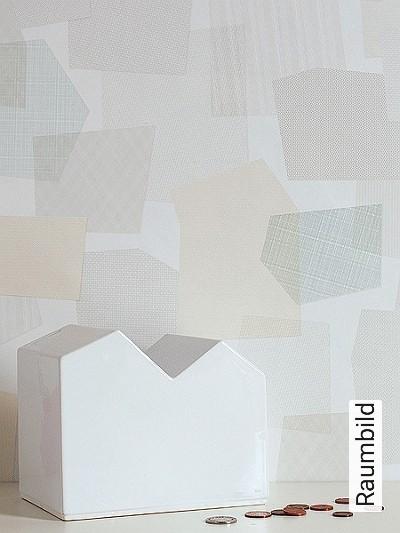 Collage,-col.03-Rauten-Quadrate/Rechtecke-Moderne-Muster-Grau-Gelb-Hellgrün-Weiß