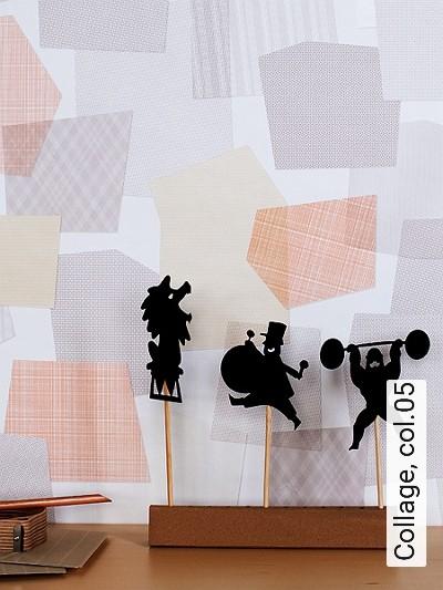 Collage,-col.05-Rauten-Quadrate/Rechtecke-Moderne-Muster-Grau-Gelb-Orange-Weiß-Hellbraun