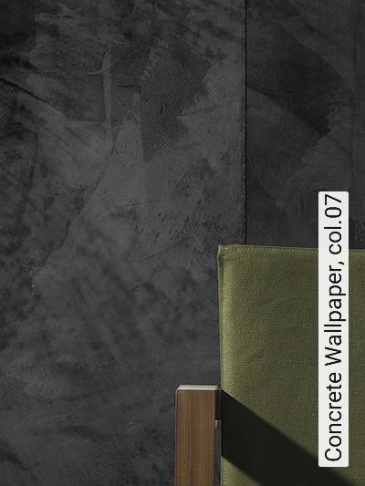 Concrete-Wallpaper,-col.07-Stein-Holz-Moderne-Muster-Anthrazit-Schwarz