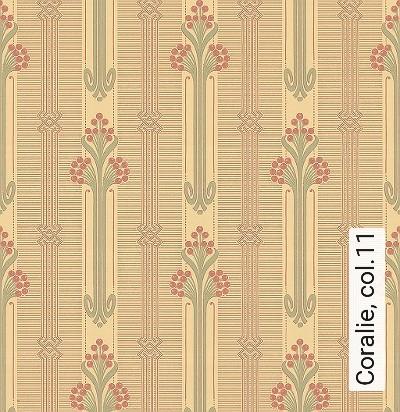Coralie,-col.11-Jugendstil-Klassische-Muster-Jugendstil-Grau-Ocker