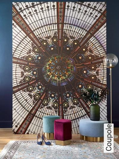 Coupole-Gebäude-FotoTapeten-Art-Deco-Multicolor