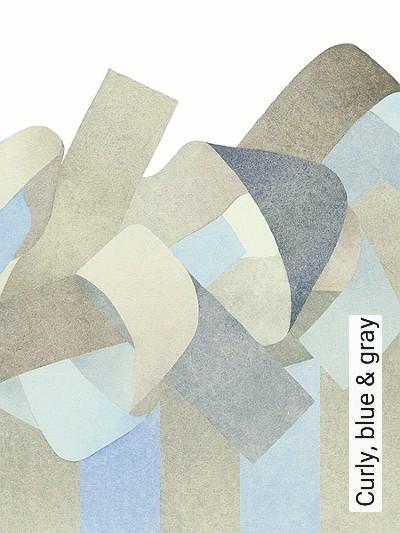 Curly,-blue-&-gray-Streifen-Zeichnungen