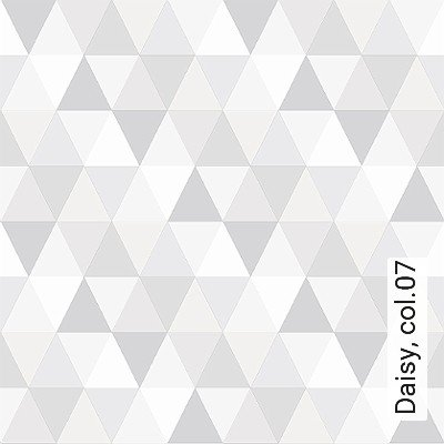 Daisy,-col.07-Dreiecke-KinderTapeten-Grafische-Muster-Grau-Weiß-Creme