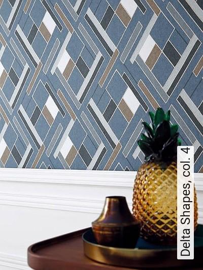 Delta-Shapes,-col.-4-Kreise-Grafische-Muster-Art-Deco-Blau-Gold-Anthrazit-Weiß-Hellbraun