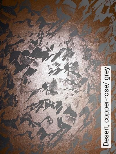Desert,-copper-rose/-grey-Formen-Grafische-Muster-Anthrazit-Bronze