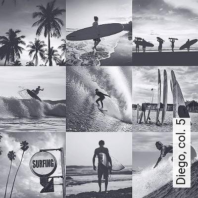 Diego,-col.-5-Landschaft-Strand-Sport-Wasser-Fotos-Moderne-Muster-Schwarz-und-Weiß
