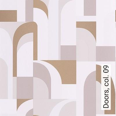 Doors,-col.-09-Gebäude-Moderne-Muster-Gold-Weiß-Creme