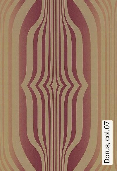 Dorus,-col.07-Retro-Retro-Muster-70.-Jahre-Gold-Hellbraun-weinrot