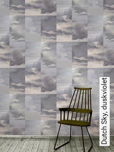 Dutch-Sky,-duskviolet-Kachel-Gebäude-Wolken-Moderne-Muster-Lila-Grau-Rosa-Flieder