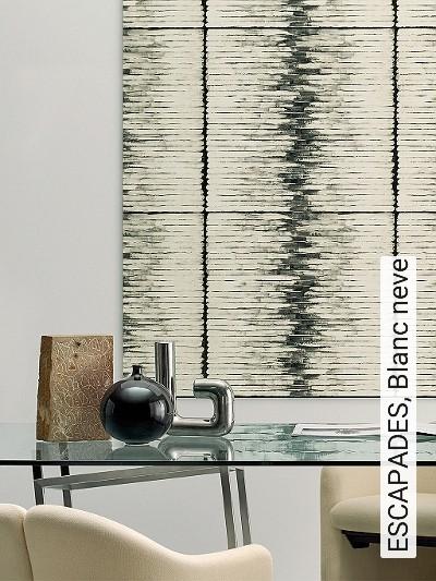 ESCAPADES,-Blanc-neve-Streifen-Moderne-Muster-Anthrazit-Creme