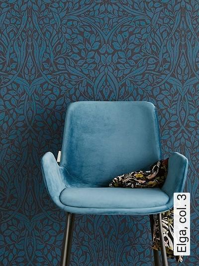 Elga,-col.-3-Blätter-Klassische-Muster-Florale-Muster-Anthrazit-petrol