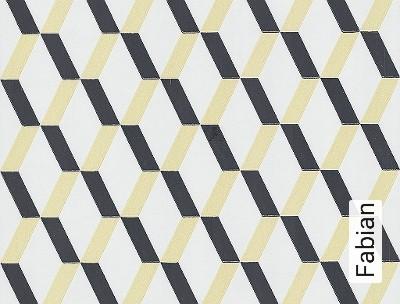 Fabian-Quadrate/Rechtecke-Grafische-Muster-Schwarz-Hellbraun