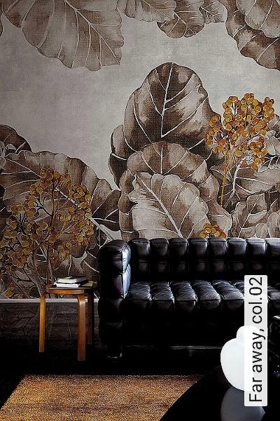 Far-away,-col.02-Blätter-Florale-Muster-Braun