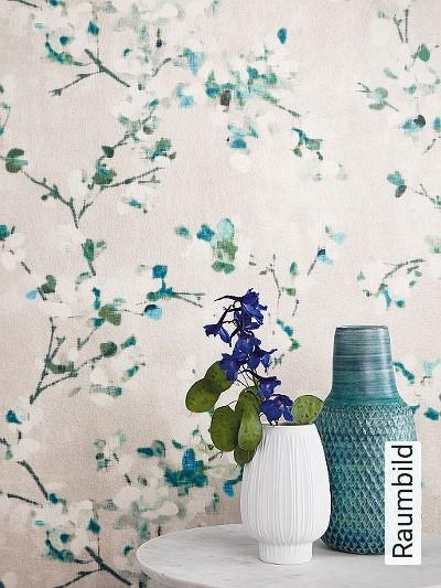 Floris,-col.-3-Blumen-Florale-Muster-Grün-Blau-Silber-Anthrazit-Weiß