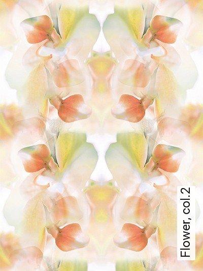 Flower,-col.2-Blumen-Blätter-Moderne-Muster-Multicolor
