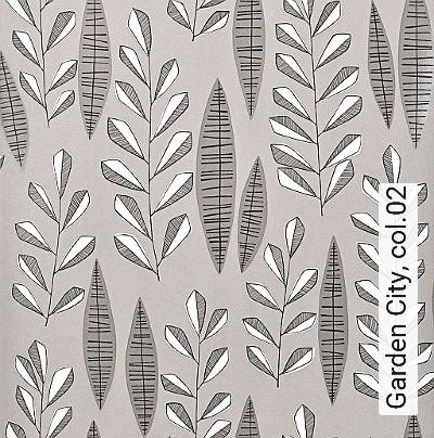 Garden-City,-col.02-Blätter-Moderne-Muster-Grau-Schwarz-Weiß