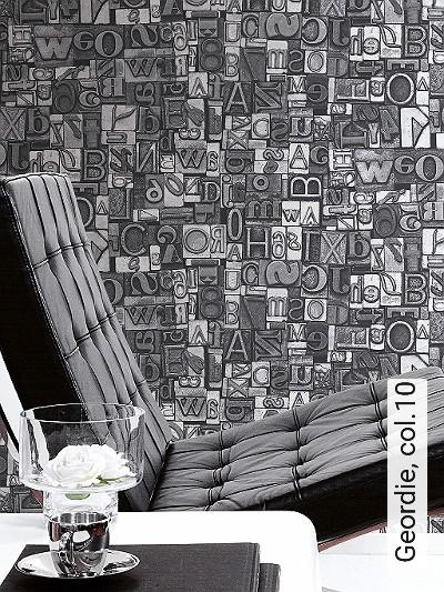 Geordie,-col.10-Buchstaben-Patina-Metallic-Moderne-Muster-Silber-Schwarz