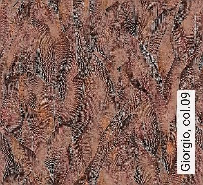 Giorgio,-col.09-Blätter-Florale-Muster-Grau-Braun-Orange
