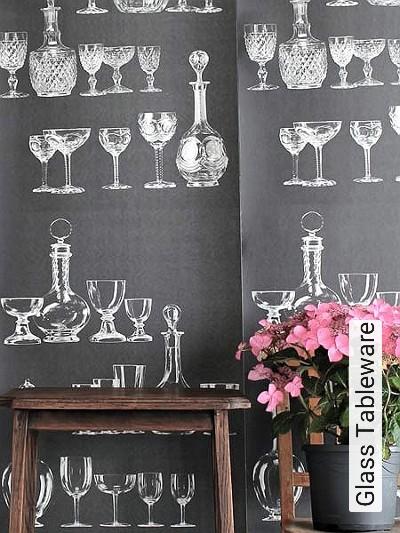 Glass-Tableware-Gläser-Moderne-Muster-Schwarz-Weiß