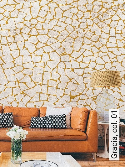 Gracia,-col.-01-Stein-Moderne-Muster-FotoTapeten-Gelb-Creme